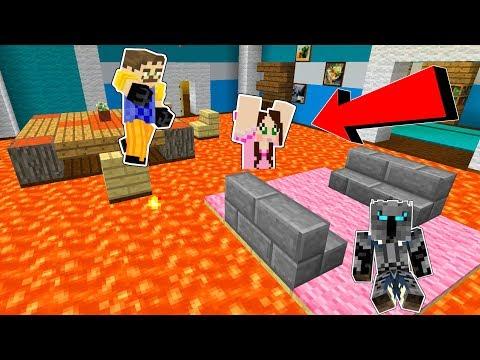 Minecraft: THE NEIGHBOR'S FLOOR IS LAVA!!! - Mini-Game thumbnail