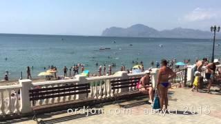 Набережная Орджоникидзе Август 2015 - ordjon.com(На видео набережная и центральный пляж Орджоникидзе в Августе 2015., 2015-08-14T17:48:56.000Z)