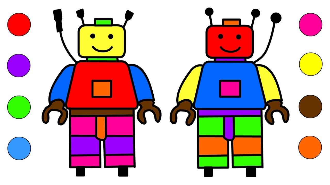 how to draw a robot coloring pages for kids children u2013 learn