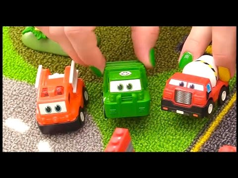lego crane toy cars acrobats circus toy trucks videos for children toy cars stories for kids