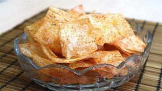 Чипсы из лаваша в духовке Вкусные Хрустящие