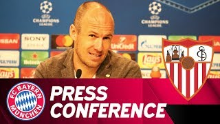 FC Bayern Press Conference w/ Heynckes & Robben   FC Bayern - FC Sevilla   ReLive