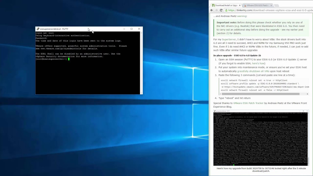 How to easily update your VMware server to ESXi 6 0 Update 1b