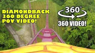 Diamondback Roller Coaster 360 Degree POV Kings Island Ohio