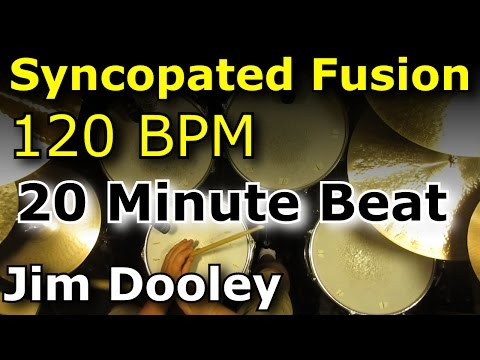 Drums Only Backing Track - Syncopated Fusion 120 BPM Drum Loop Excerpt
