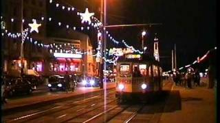 Blackpool Trams At Night In 1996 - Illuminations