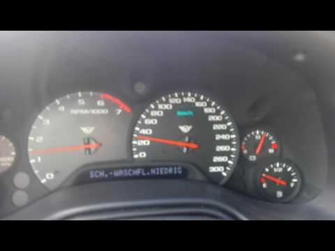 Corvette C5 0-300 on Bord.  Top Speed