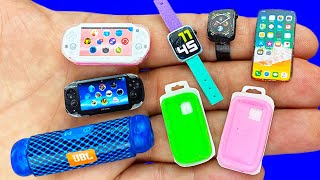 10 DIY MINIATURE DEVICE CRAFTS : Portable Speaker, iPhone, Apple Watch, PSP Vita and More !!!