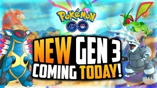 Pokemon Go - AGGRON AND FLYGON ARE HERE! (23 NEW Gen 3 Pokemon in Pokemon Go!)