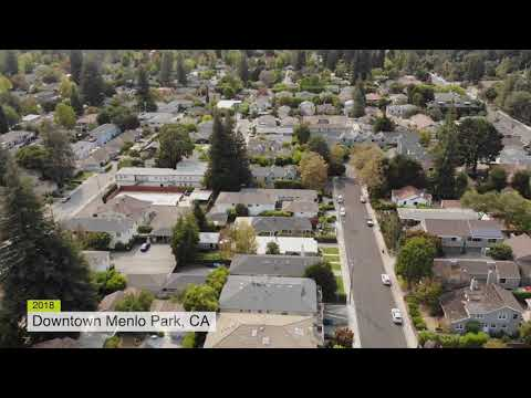 Downtown Menlo Park by Drone