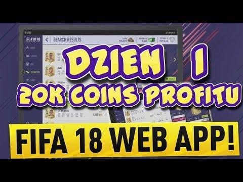 FIFA 18 WEB APP - 1 DZIEŃ - JAK ZAROBIĆ 20K NA WEB APP