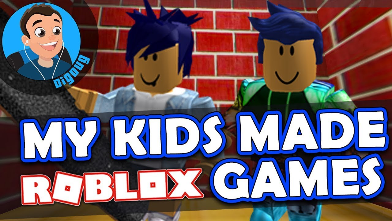 Wow my Kids Made Roblox Games!!