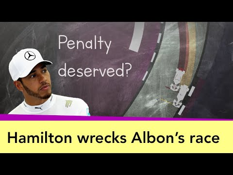 Albon punted off by Hamilton in Austrian GP - What Happened? Did Lewis deserve a penalty?