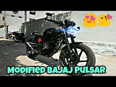 Modified Bajaj Pulsar Into CafeRacer By Costa Motor Co. Motorcycles (Hyderabad)