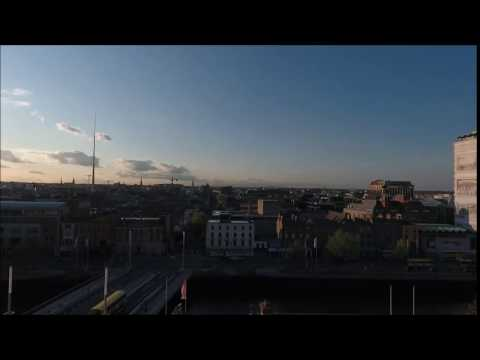 My first DJI Phantom 4 video! Dublin skyline.