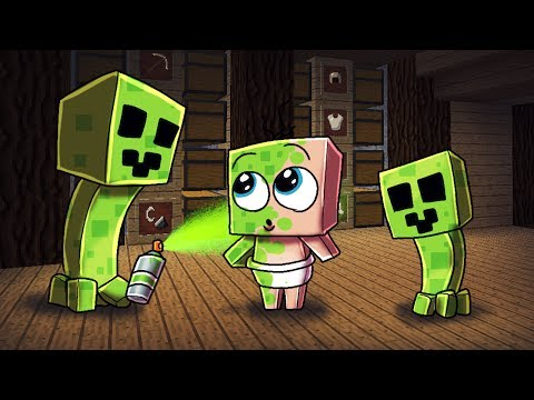 Minecraft  Creeper Life  TURNING BA INTO CREEPER! Minecraft Roleplay #4