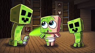 Minecraft | Creeper Life - TURNING BABY INTO CREEPER! (Minecraft Roleplay) #4