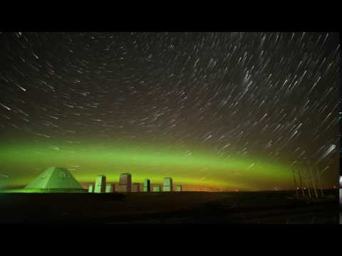 Dakota Pyramid Aurora and Star Trails