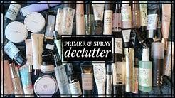 PRIMER/SETTING SPRAY DECLUTTER | Over 50% GONE... what made the cut??