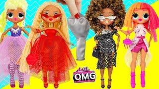 OMG Big Sisters Fashion Style Dolls Making Dresses with Balloons DIY