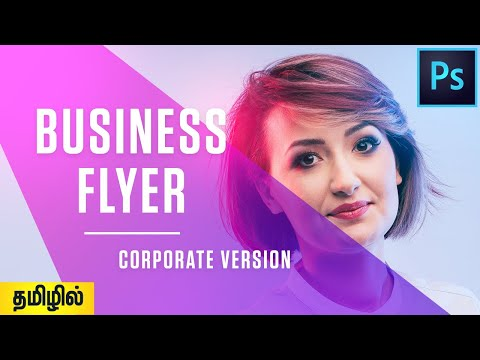 How To Design Business Flyer In Photoshop   Tamil Tutorial   Free Flyer Template   PT63 thumbnail
