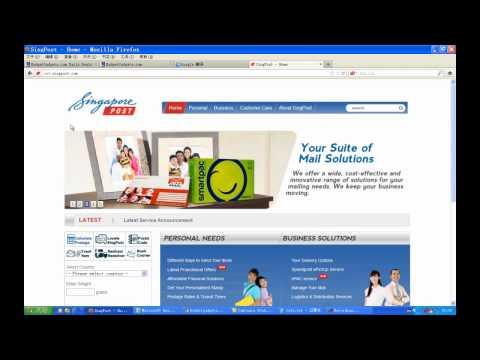 How to track singpost singapore post air mail? eg: RF089079698SG