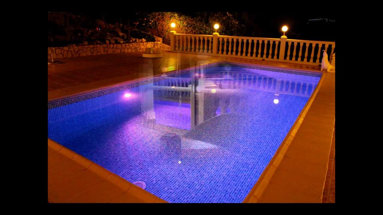 led pool lampen youtube. Black Bedroom Furniture Sets. Home Design Ideas