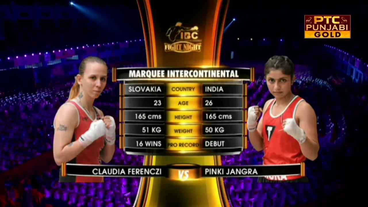 Claudia Ferenczi Vs Pinki Jangra Pro Boxing League Fight Night Part 3