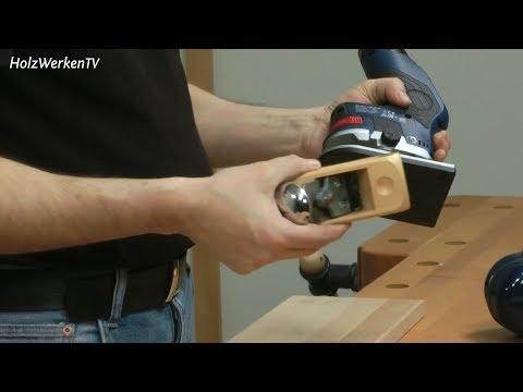 Was kann Boschs neue Akku-Fräse - verglichen mit einem Hobel?