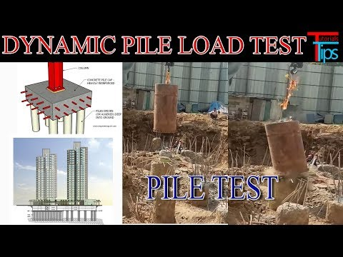 Pile Load Test At Site | Dynamic Pile Test | PDA Test