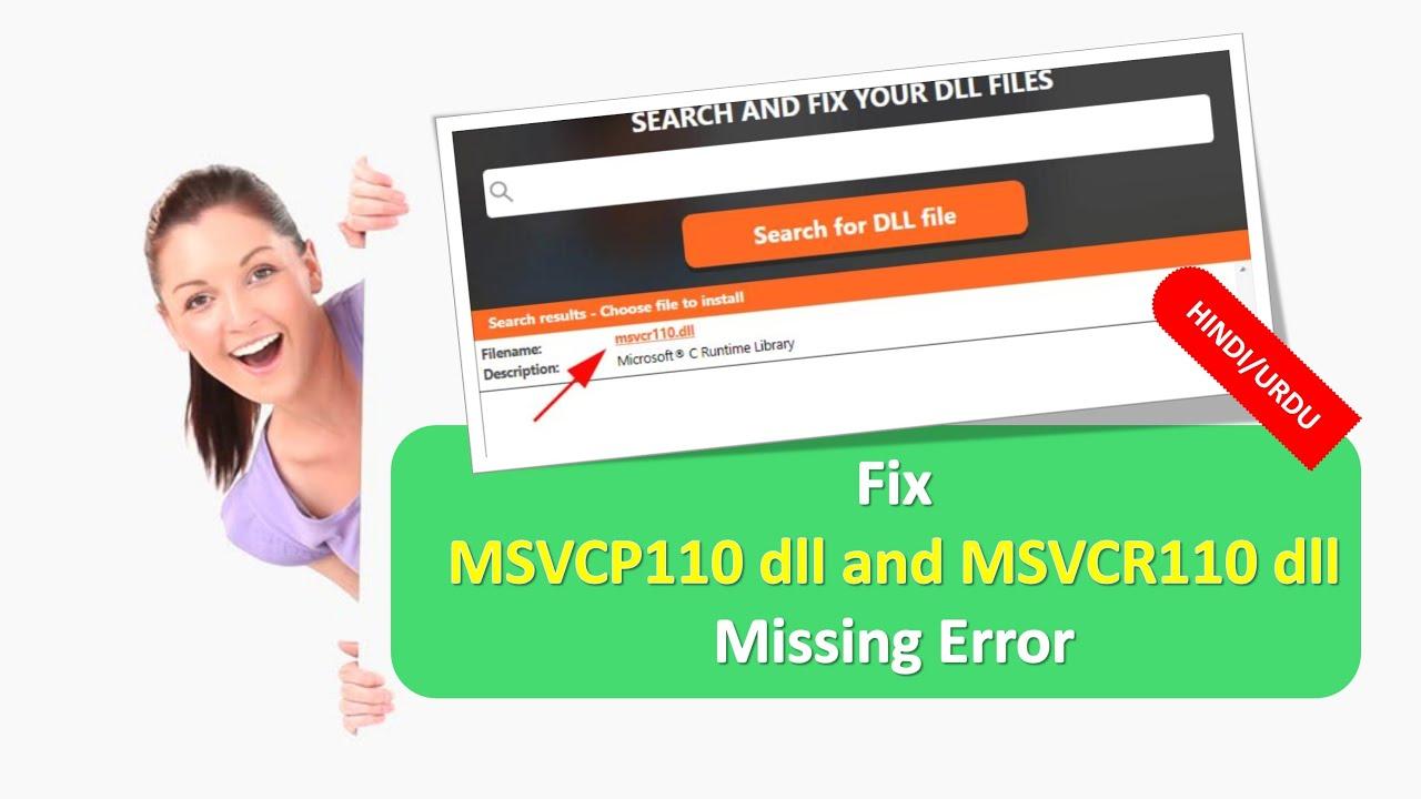msvcr110.dll missing 32 bit