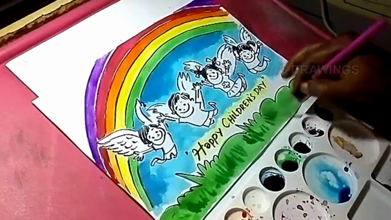 Art Happy Childrens Day Drawing