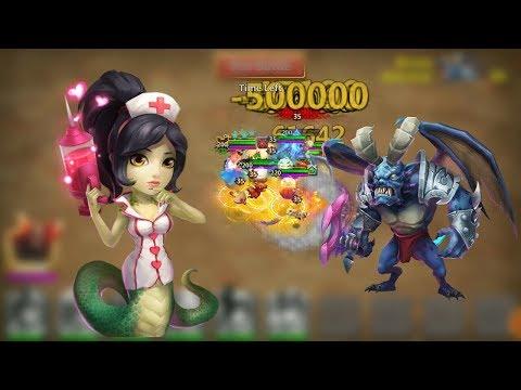Archdemon With Medusa L Summons Monsters Huge Damage L Castle Clash