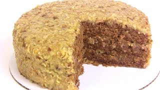 My German Chocolate Cake Recipe- Step By Step |cooking With Carolyn