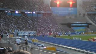 1er demi final 100 m homme 2e faux depart  dimanche 16