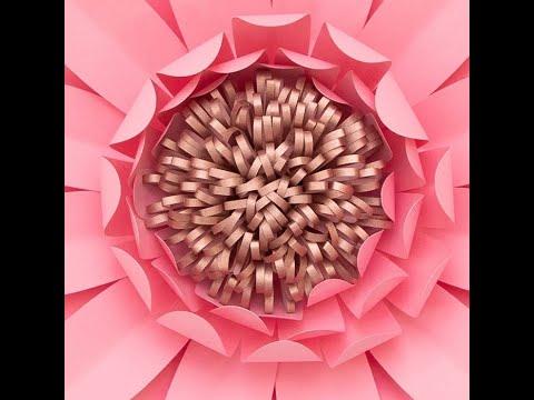 DIY Fluffy Paper Flower Center - Style 1