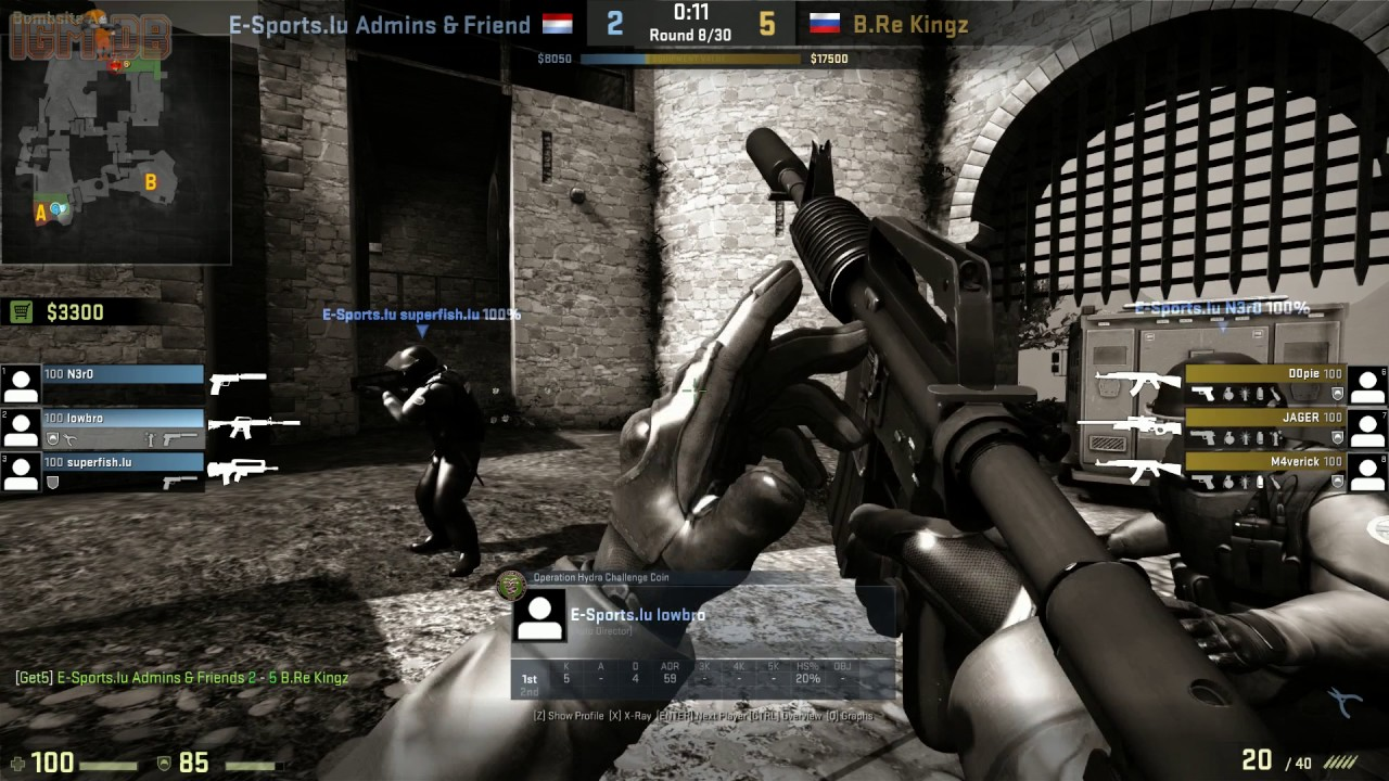 Counter-Strike: Global Offensive: Get5 test game