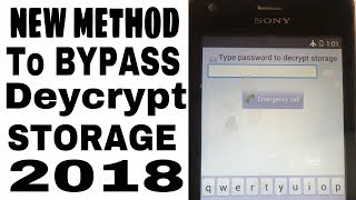 Sony Xperia M C1904, C2004 Type Password to Decrypt Storage (New Method) How to Bypass 2018