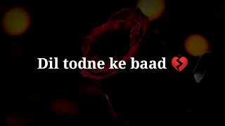 Dil todne ke baad 💔 Very sad heart touching shayari 💔 Very sad hindi shayari