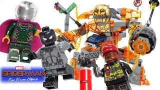 Lego Spider-Man Far From Home Molten Man Battle Stop Motion Build review 2019 set 76128