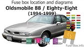 Fuse Box Location And Diagrams Oldsmobile Cutlass 1997 1999 Youtube