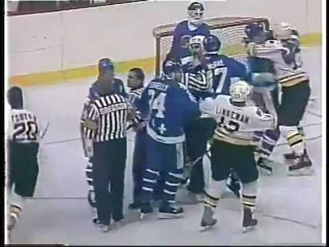 Nordiques-Bruins Bench-Clearing Brawl - Feb.26,1987