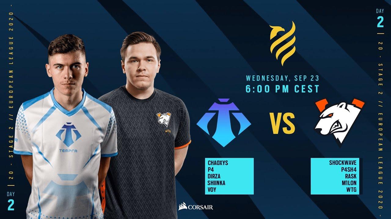 Virtus.Pro vs Tempra Esports // Rainbow Six European league 2020 - Stage 2 - Playday #2