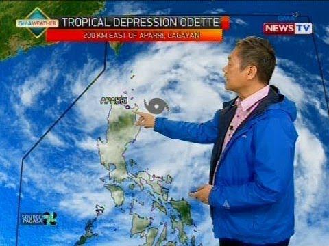 Low pressure area, lumakas at isa nang bagyo na pinangalanang 'Odette'