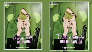 I want a lie die song 💕 Gaana song 💕 Tamil love Song 💞 Murali Creation