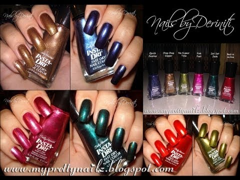 Sally Hansen Fall 2013 Insta Dri Collection Swatches And Nail Art