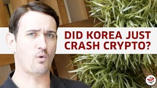 CRYPTO CRASH CAUSED BY KOREA? (plus Warren Buffett's take on Bitcoin & other cryptocurrencies!)