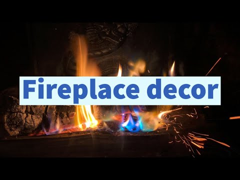Non-working Fireplace Decor - Less Than $20 Makeover - Home Decor On A Budget