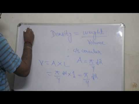 how to get weight of steel in kg ?(square of d/162) derivation