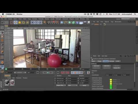 Cinema 4D R14 Tutorial : Camera Calibration Quick Start